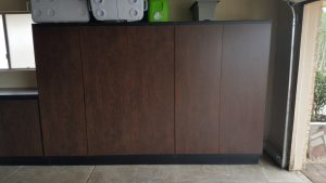 A Built in Garage Cabinet Gives You Tons of Storage | 480-456-6667